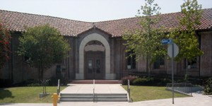 Exterior view of the R.L. Stevenson Library
