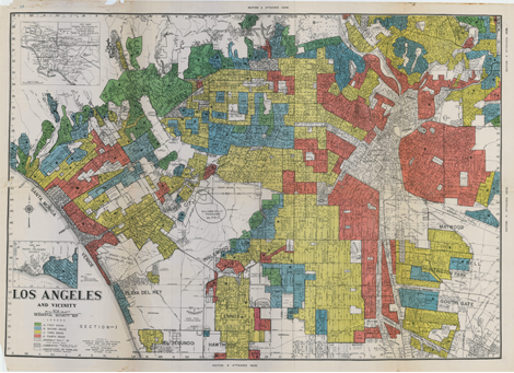 Segregated map of Los Angeles
