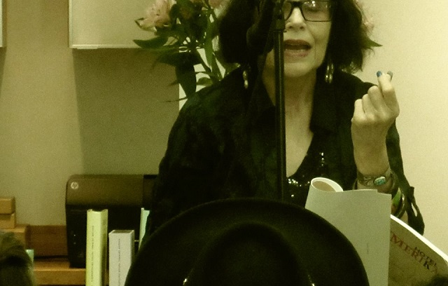Suzanne Lummis at A.G. Geiger Fine Art Books poetry reading in Chinatown