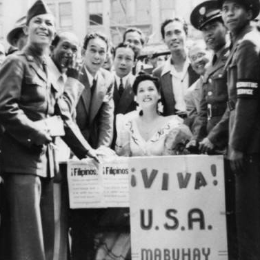 Filipino Americans celebrating end of WWII