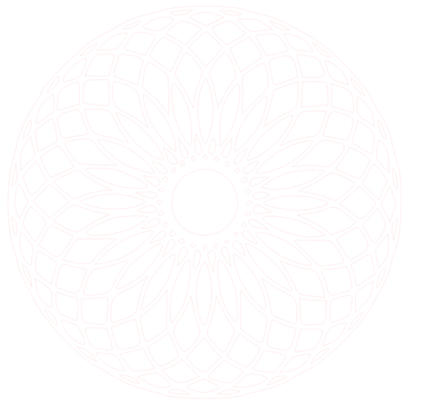 faint outline of a mandala pattern