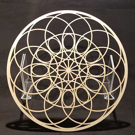laser cut mandala shaped ornament