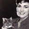 Author Rita Mae Brown with her late cat, Baby Jesus
