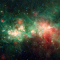 "Spitzer Image of Star Factory W51 - The star-forming nebula W51 is one of the largest ""star factories"" in the Milky Way galaxy."