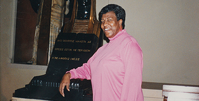 Octavia E. Butler at the Central Library in 1995.
