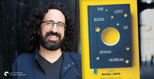 Author Michael Zapata and his latest book, The Lost Book of Adana Moreau