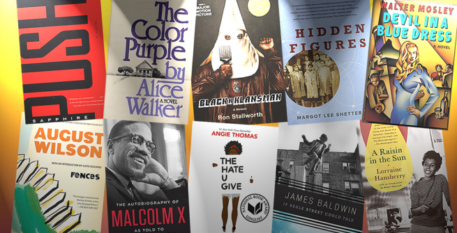 Collage of books adapted to films