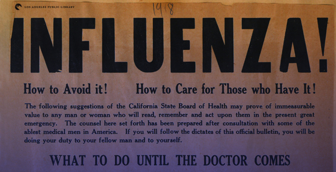1918 Poster about influenza