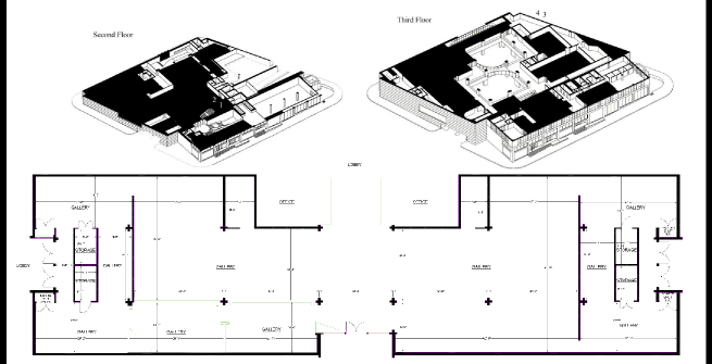 Alexandre Dorriz black and white architectural drawing