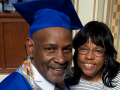 Willie Howard and woman at Career Online High School graduation ceremony