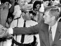 John Kennedy Shaking Hands in Crowd