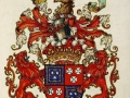 Groovy, complicated heraldic achievement