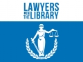 blue text lawyers in the library