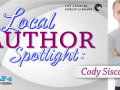 local author spotlight graphic and picture of Cody Cisco