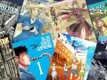 8 colorful manga books