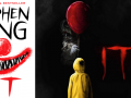 "Movie poster and book cover for King's classic horror novel ""it"""