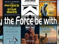 """May the Force be with you"" words on top of Star Wars related books"