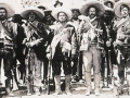 Mexican Revolution photo of General Pancho Villa with other revolutionary generals