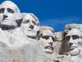 Mount Rushmore heads plus Amanda's head