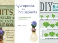 Book covers of recommended hydroponic gardening books