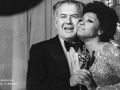 """Nelson Riddle receives Oscar from Diahann Carroll for his outstanding achievements in music adaptation in """"The Great Gatsby."""" 1975"""