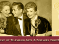 Pictured from left, are Vivian Vance, co-star, holding her Emmy for Best Supporting Actress, Desi Arnaz and Lucille Ball holding the Best Situation Comedy Emmy