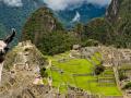 Machu Picchu in Peru with a Llama