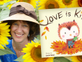 Author Laura Sassi and her latest book, Love is Kind