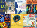 Collage of thank you books