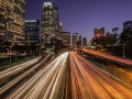 The 110 freeway at twilight