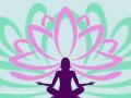 Lotus Flower and Yoga silhouette