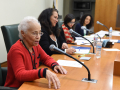 Rita Walters at a Board of Library Commissioners Meeting