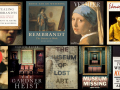 Collage of books about notorious art thefts