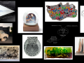 Collage of artwork by Los Angeles artists