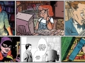 comic panel of comic librarians