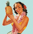 Avitar of a woman with a pineapple.