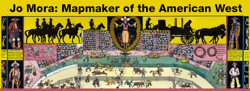 Pictorial map by Jo Mora