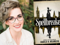 Author Charlie N. Holmberg and her latest book, Spellbreaker