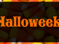 Halloweek with candy corn background