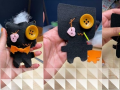 Three pictures of DIY Monster Dolls