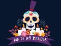 Colorful dia de los Muertos image